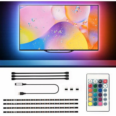 """main image of """"LED light with ambient light background + infrared remote control at 24 keys"""""""