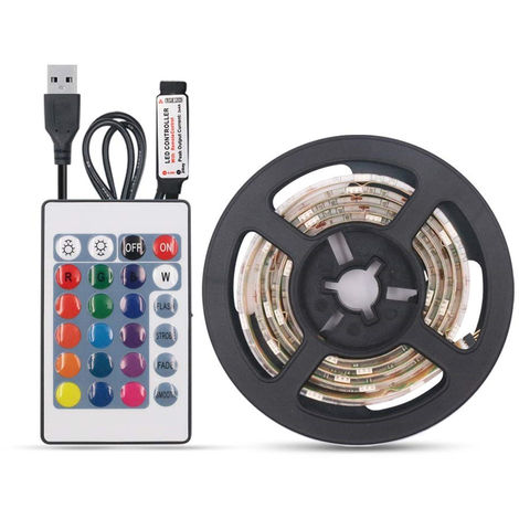 LED light with remote control DC5V 10W 2m 120LEDs RGB