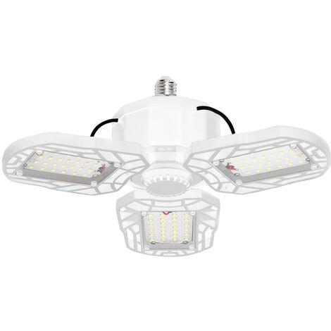 Led luces de garaje deformable LED plegable techo ajustable de la lampara E27 llevo luz, blanco, 3 paneles de LED, 45W