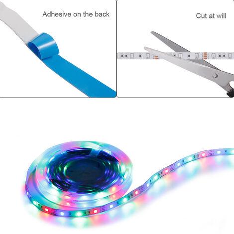 LED luces de tira con aplicacion de control Modo de musica de color de la luz ajustable RGB LED Franja para televisores PC Dormitorio Cocina Decorar arbol de navidad, no es impermeable-200cm