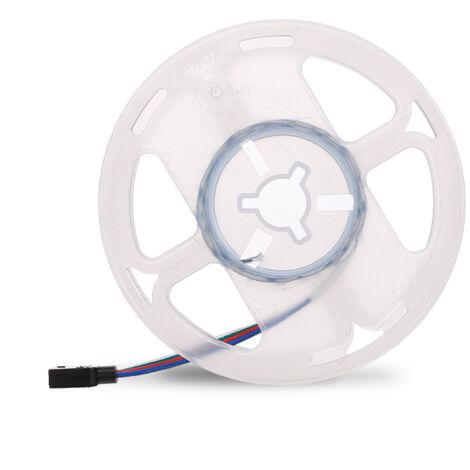 LED luces de tira con aplicacion de control Modo de musica de color de la luz ajustable RGB LED Franja para televisores PC Dormitorio Cocina Decorar arbol de navidad, no es impermeable-50cm