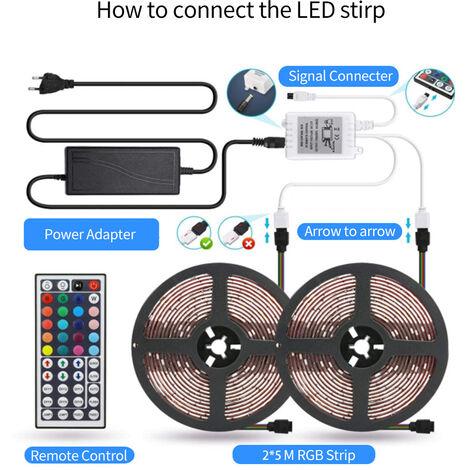 Led luces inteligentes que cambian de color RGB tiras de cuerda de luces con musica Aplicacion Aplicar Bt controlada, 10M, no es impermeable