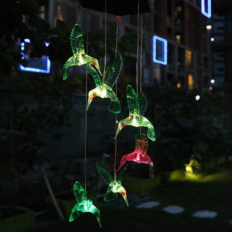LED luces solares de jardin que cuelga luces de colores colgando en forma de pajaro de la mariposa de la lampara LED Camino Calzada del cesped patio trasero de iluminacion impermeable al aire libre del paisaje de la lampara decorativa, tipo 1