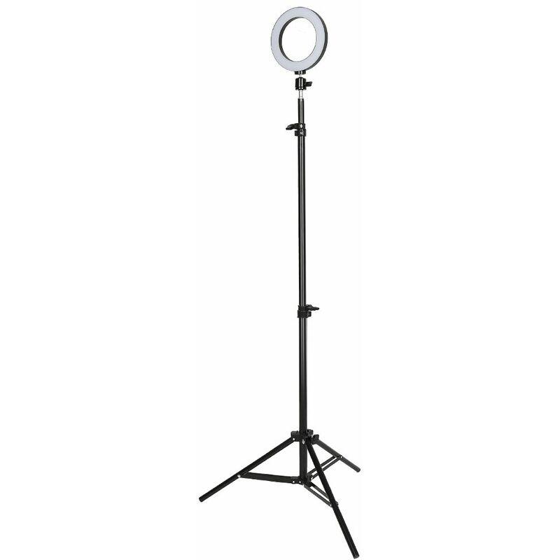 Jeobest - LED Lumière Anneau 6 Pouces Réglable Vidéo Eclairage Kit 6 - 10 w avec Support - Blanc