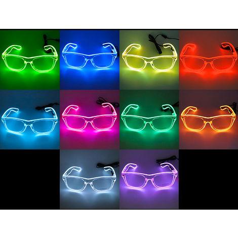 Led Lunettes 10 Couleurs En Option Light Up El Fil Neon Rave Lunettes Twinkle Party Glowing Club Holiday Bar Verres Decoratifs, Rouge