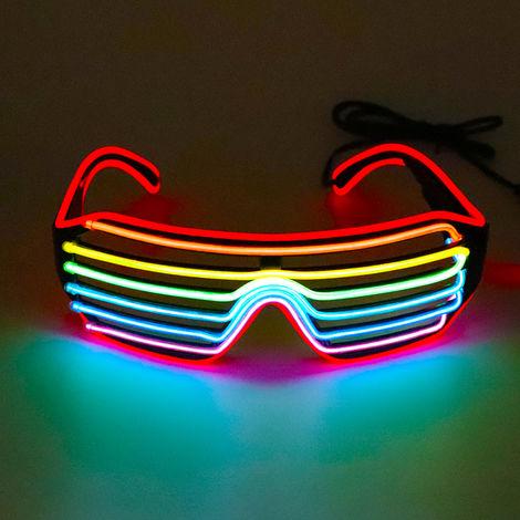 Led Lunettes 3Colors En Option Light Up El Fil Neon Rave Lunettes Twinkle Party Glowing Club Holiday Bar Verres Decoratifs, Type A