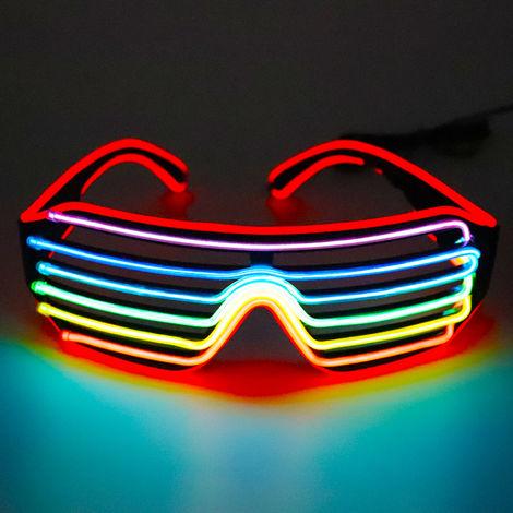 Led Lunettes 3Colors En Option Light Up El Fil Neon Rave Lunettes Twinkle Party Glowing Club Holiday Bar Verres Decoratifs, Type B
