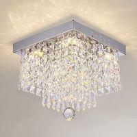LED Lustre Plafonnier En Cristal Acier Inoxydable Moderne Lampe De Plafond,  Pendentif Style Design élégant