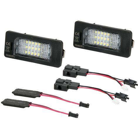 LED luz matrícula módulos set 2 piezas Audi A1 A3 A4 A5 A6 Avant A7 Q3 Q5 Q7 TT