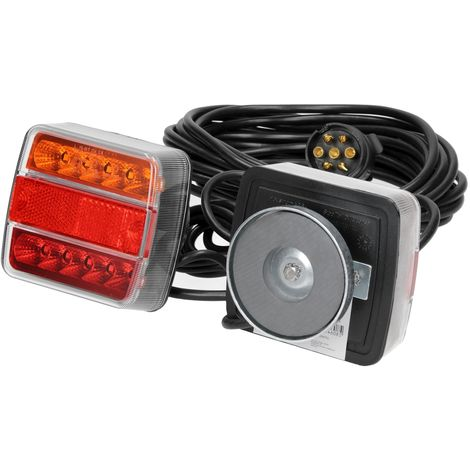 LED magnético luz trasera 7 pines faros remolque camión cable lámpara 7,5 metros