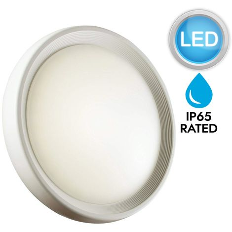 LED matt white & opal outdoor contemporary IP65 wall light