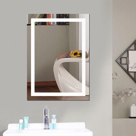 LED Miroir de salle de bain - 50x70cm Blanc froid 6500K