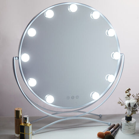 """main image of """"LED Mirror Light 3 Color / 10 Brightness Dimmable, Kit of 8 Bulb Hollywood Light, LED Lamp Wall Sconce Cosmetic Mirror Makeup Lighting Vanity Table Bathroom, Mirror Not Included [Energy class A +++]"""""""
