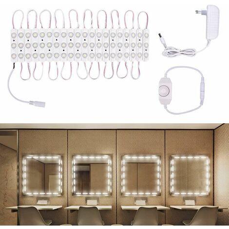 "main image of ""LED mirror light, mirror lighting, RGB and cool white LED make-up mirror kit"""