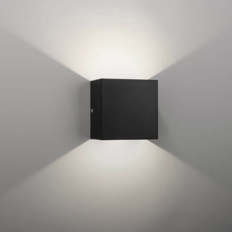 LED Modern Wall Lamp 6W Cool White Cube Creative Wall Light Simple Chandelier for Corridor Loft Black