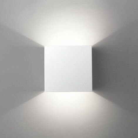 LED Modern Wall Lamp 6W Cool White Cube Creative Wall Light Simple Chandelier for Corridor Loft White