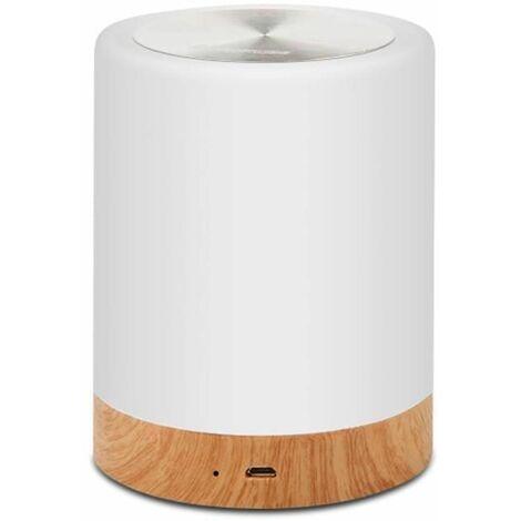 LED Nachttischlampe, Touch Dimmbar Atmosphäre Tischlampe für Schlafzimmer Wohnzimmer