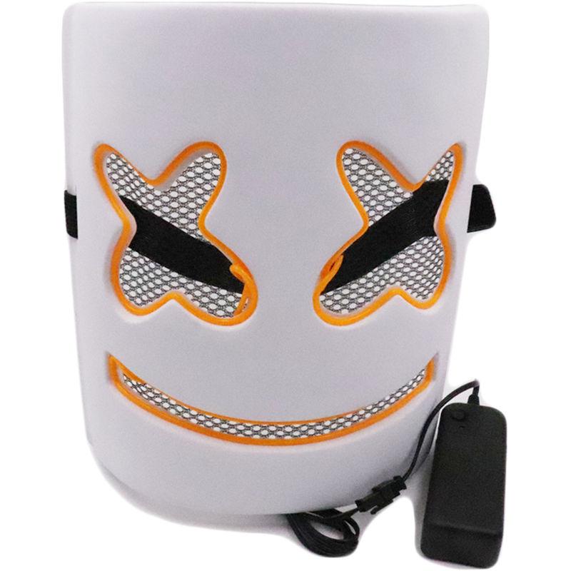 Image of LED Neon maschera della mascherina della mascherina di Halloween del partito di travestimento mascherina cosplay masquerade terribile lucido (senza