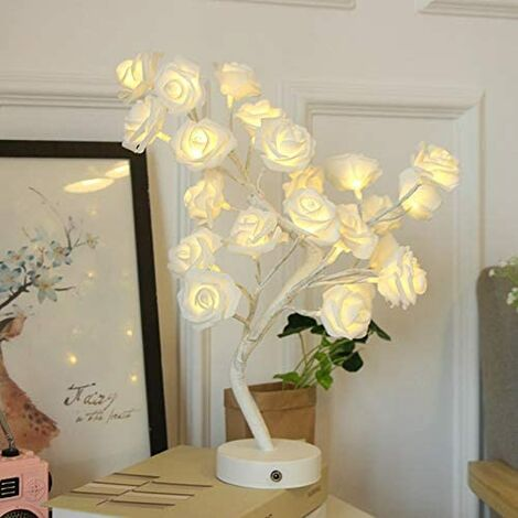 """main image of """"LED Night Lamp Color Cotton Ball Light Battery Or USB Power Supply Desk Light String Room Christmas Decoration Table Lamp (Emitting Color: Pink table lamp)"""""""