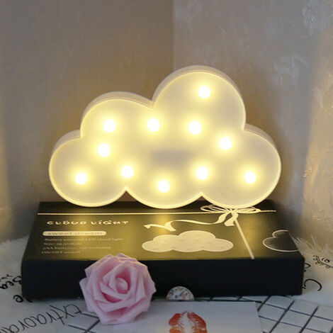 LED Night Light Battery Table Bedroom Lamp Kids Bedside Lights