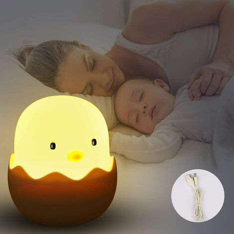LED Night Light Kids Night Light Baby Touch Lamp for Bedroom Bedside Lamp with Yellow Light & Touch Switch Night Lamp for reading, sleeping and relaxing