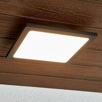 LED outdoor ceiling lamp Mabella in dark grey