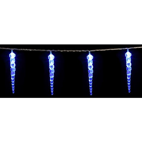 DEUBA LED Lights String with Icicles Indoor Outdoor Christmas Decoration 80 Icicles LED Blue