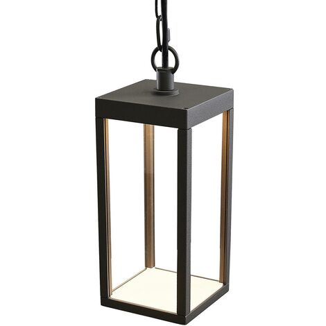 LED outdoor hanging light Cube, 26 cm