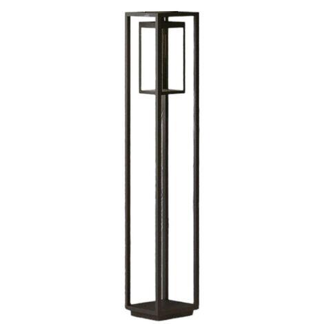LED Outdoor lights 'Ferdinand' (modern) in Silver made of Aluminium (1 light source, A+) from Lucande | garden light, path light, bollard light, path lamp, pillar light