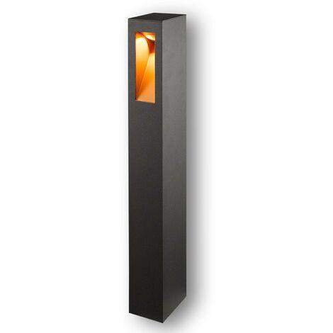LED Outdoor lights 'Jenke' (modern) in Black made of Aluminium (1 light source, A+) from Lucande | garden light, path light, bollard light, path lamp, pillar light