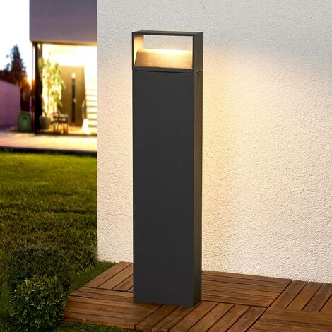 LED Outdoor lights 'Kjella' (modern) in Black made of Aluminium (1 light source, A+) from Lampenwelt | garden light, path light, bollard light, path lamp, pillar light