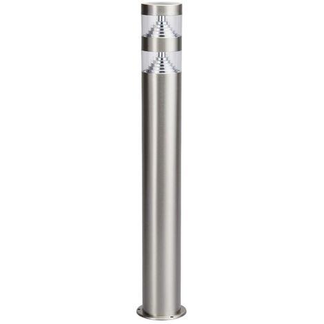 LED Outdoor lights 'Lanea' (modern) in Silver made of Stainless Steel (1 light source, A+) from Lindby | garden light, path light, bollard light, path lamp, pillar light