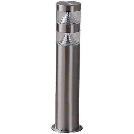 LED Outdoor lights 'Lanea' (modern) in Silver made of Stainless Steel (1 light source, A+) from Lindby | pillar lights, garden light, path light, bollard light, path lamp, pillar light