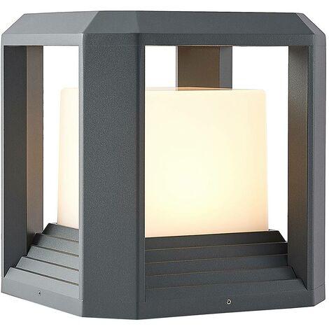 "main image of ""LED Outdoor lights 'Serenella' (modern) in Black made of Aluminium (1 light source,) from Lucande   pillar lights, garden light, path light, bollard light, path lamp, pillar light"""