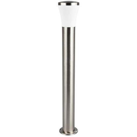 LED Outdoor lights 'Sumea' (modern) in Silver made of Stainless Steel (1 light source, A+) from Lindby | garden light, path light, bollard light, path lamp, pillar light