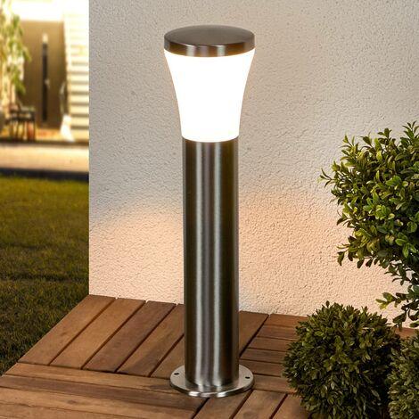 LED Outdoor lights 'Sumea' (modern) in Silver made of Stainless Steel (1 light source, A+) from Lindby | pillar lights, garden light, path light, bollard light, path lamp, pillar light