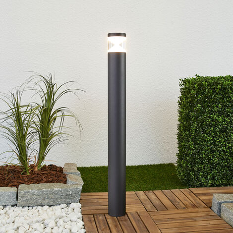 LED Outdoor lights 'Tamiel' (modern) in Black made of Aluminium (1 light source, A+) from Lindby | garden light, path light, bollard light, path lamp, pillar light