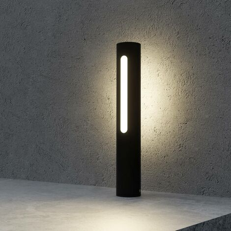 LED Outdoor lights 'Tomas' (modern) in Black made of Aluminium (1 light source, A+) from Lucande | pillar lights, garden light, path light, bollard light, path lamp, pillar light