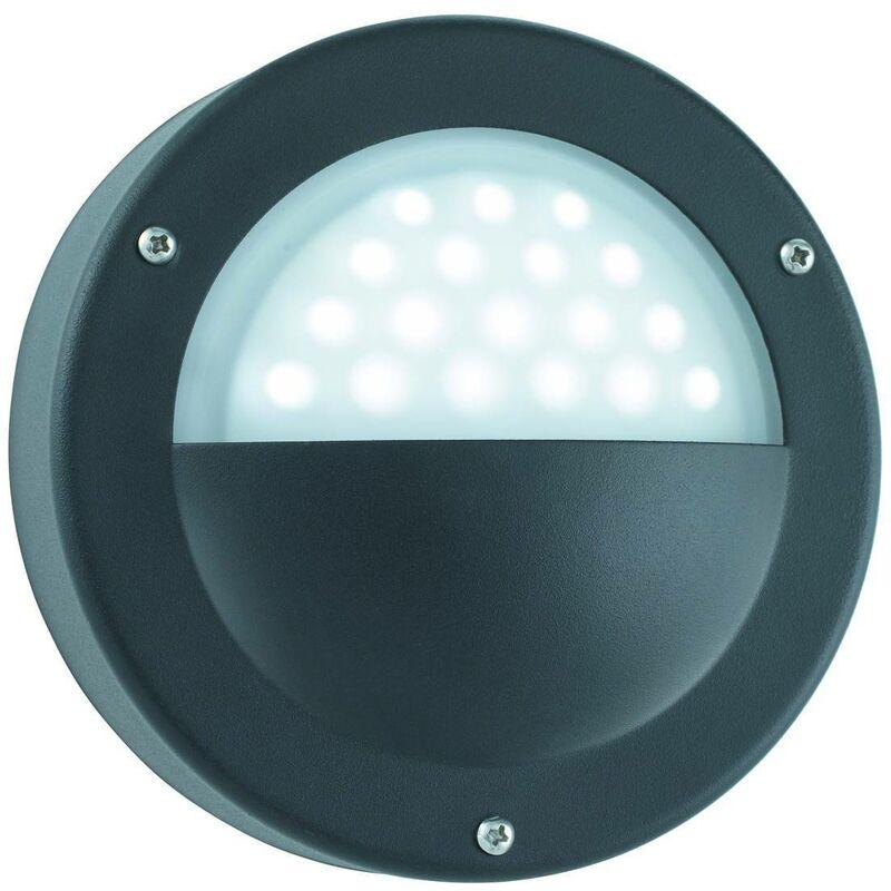 Searchlight Outdoor - LED Outdoor Garden Wall Light Black IP44