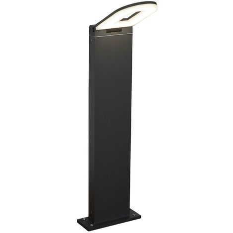 LED OUTDOOR POST (H500cm), DARK GREY, FROSTED DIFFUSER