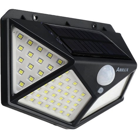 LED Outdoor Solar Wall Light IP65 Waterproof with PIR Motion Sensor 3Mode 1000LM