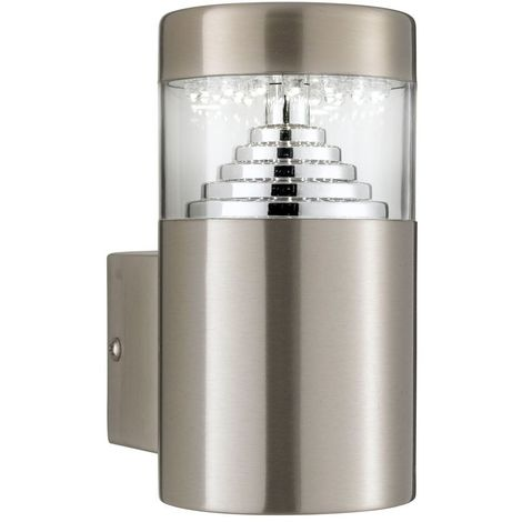 Led outdoor wall light - stainless steel square back plate