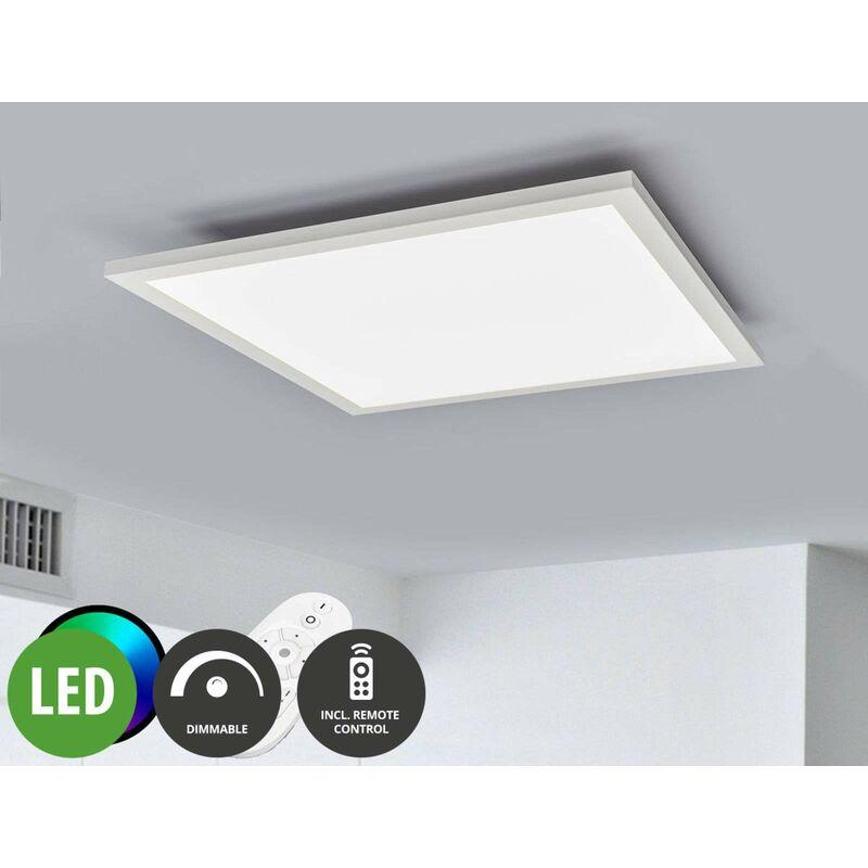 LED Panel aus Metall dimmbar mit Fernbedienung für Wohnzimmer & Esszimmer  von Lampenwelt