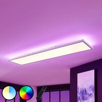 """LED Panel """"Brenda"""" dimmable with remote control (modern) in White made of Aluminium (A+) from Lampenwelt"""