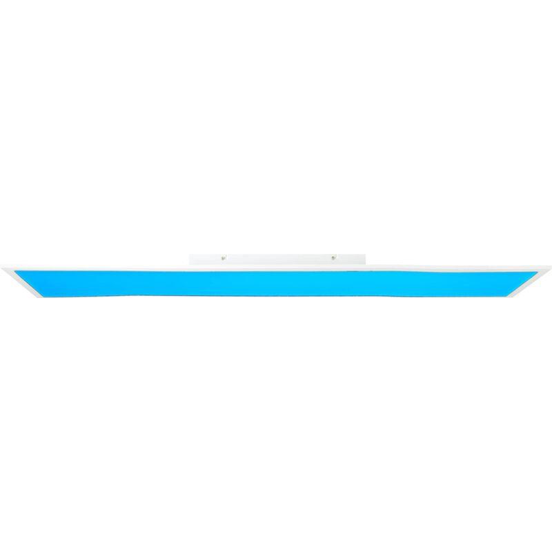 LED Panel Deckenleuchte, 120x30cm, dimmbar, RGB Farbwechsel - per Fernbedienung steuerbar, 40 Watt, 2700-6500 Kelvin, Metall/Kunststoff,