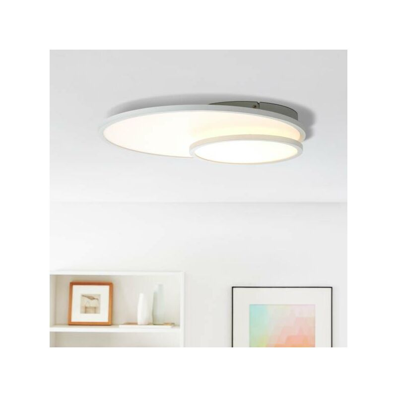 LED Panel Deckenleuchte, 61x45cm, 1x 36W LED integriert, 1x 3960 Lumen, 3000 Kelvin, Metall / Kunststoff, weiß-'LB00001528' - LIGHTBOX