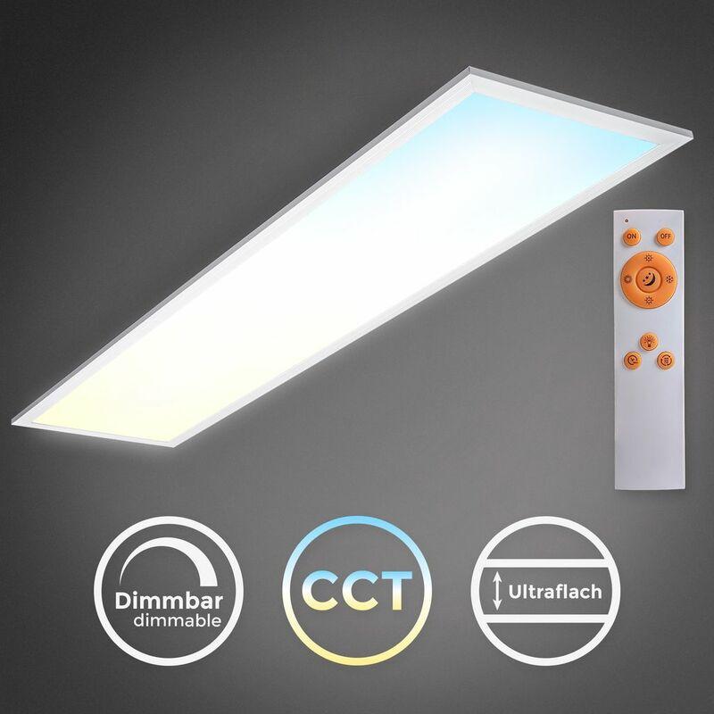 Led Panel Deckenleuchte Cct Ultraflach Dimmbar Wohnzimmer Schlafzimmer Slim Weiss Bkl1326