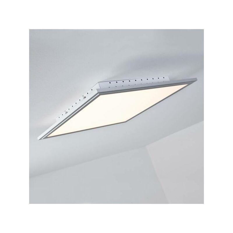 LED Panel Deckenleuchte, dimmbar per Fernbedienung, 42x42cm, 2500 Lumen, 2700-6500 Kelvin aus Metall / Kunststoff in alu-