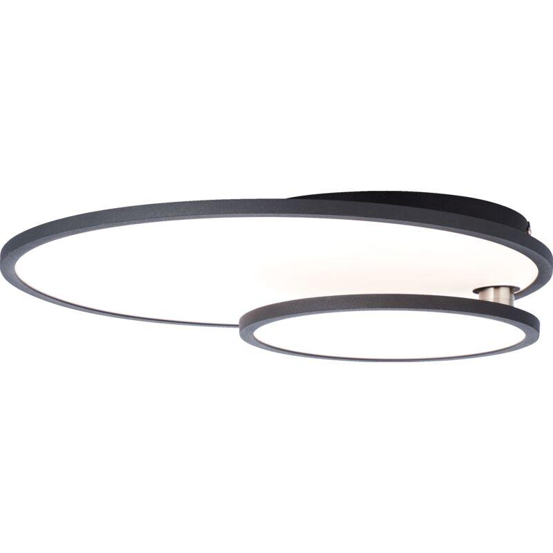 Lightbox - LED Panel Deckenleuchte mit Easydim Funktion Ø45cm, 36 Watt, 3960 Lumen, 3000 KelvinMetall / Kunststoff, schwarz / weiß-'LB00001419'