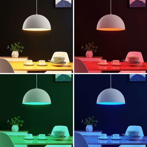 LED pendant light Bowl WiFi 41cm white